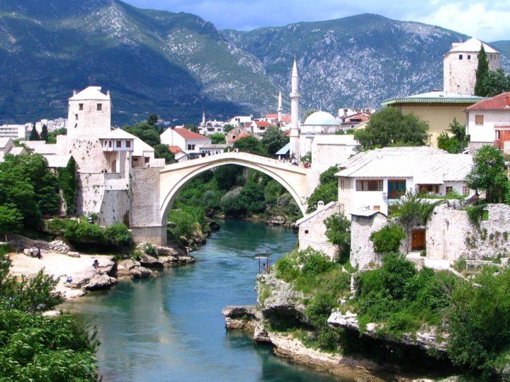 100 km south of Sarajevo