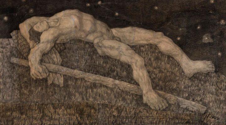 Illustration to Kalevipoeg by Kristjan Raud