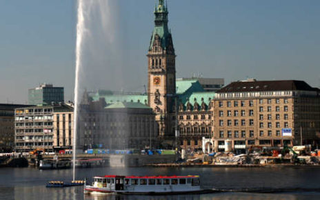 Inner Alster to City Hall, Hamburg