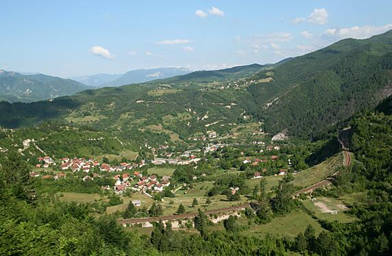 Bosnia and Herzegovina is a mountain country. Here from the Neretva Valley near Konjic.