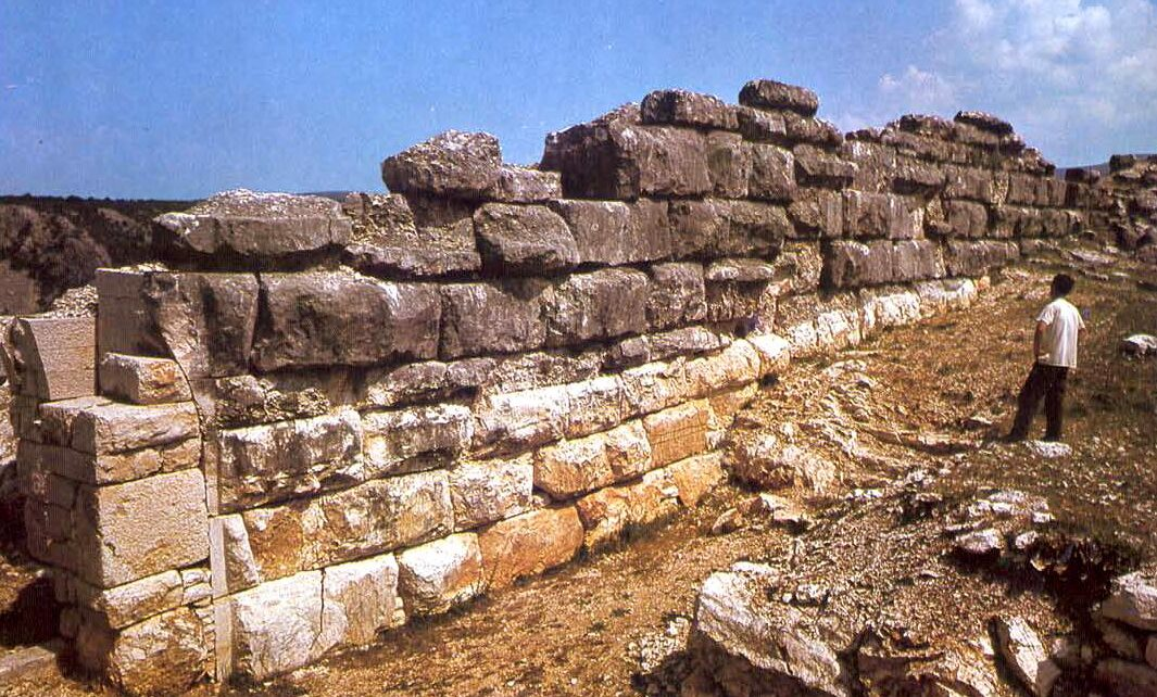 Remains of an Illyrian wall in Stolac, Herzegovina