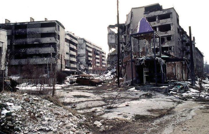 Bosnia and Herzegovina's capital Sarajevo was bombed by Bosnian-Serbian forces.
