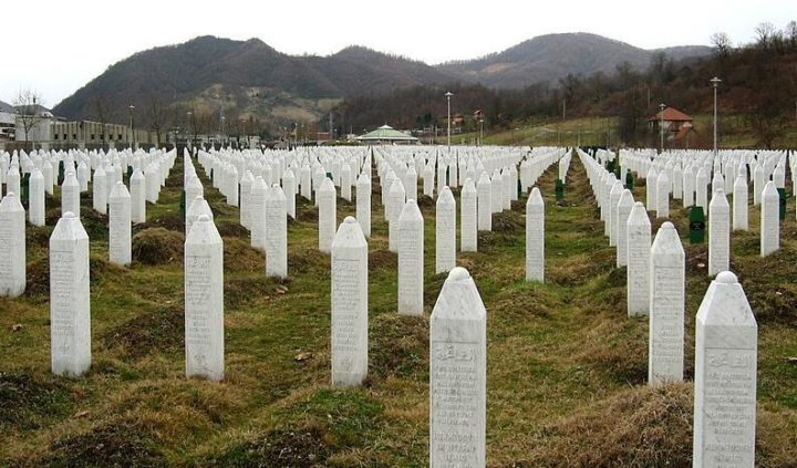 The graves of the victims of the 1995 massacre in Srebrenica