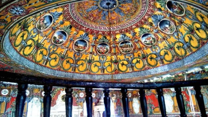 Picture from inside the colorful mosque in northern Macedonia