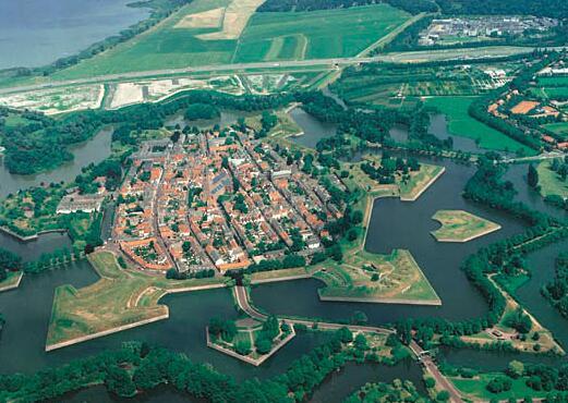 The Renaissance city of Naarden in the Netherlands