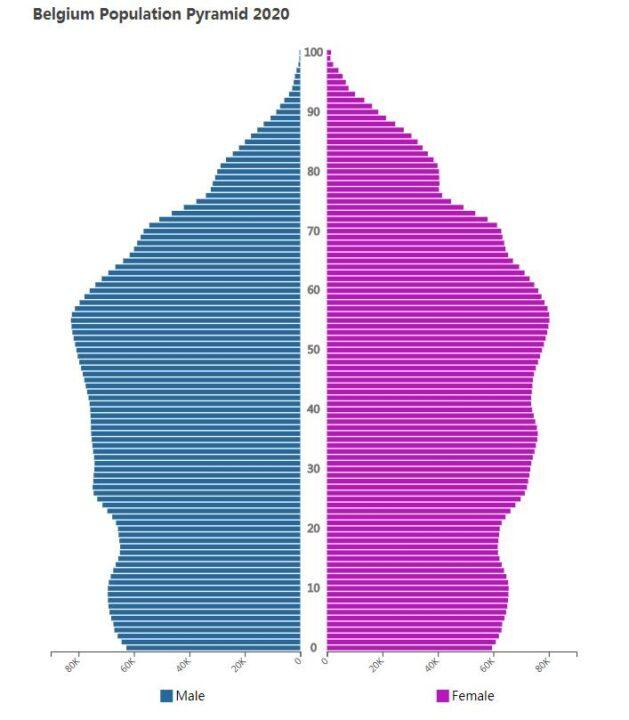 Belgium Population Pyramid 2020
