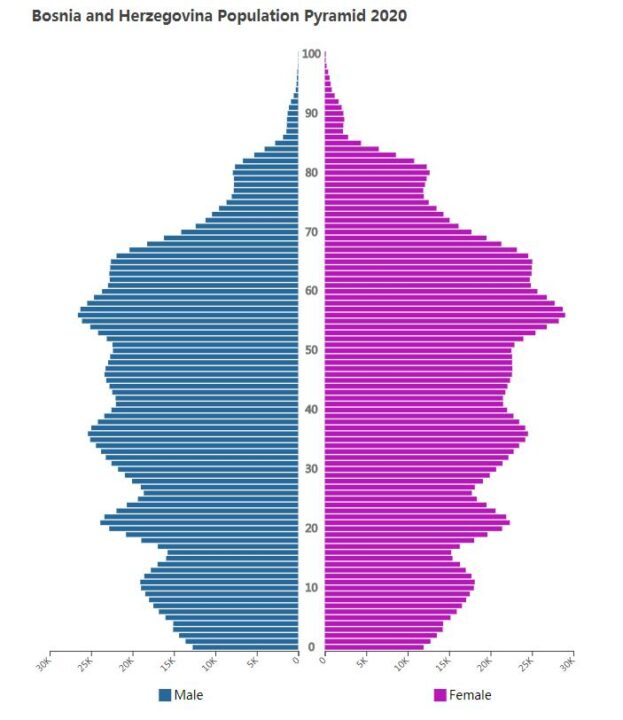 Bosnia and Herzegovina Population Pyramid 2020
