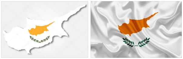 Cyprus Flag and Map