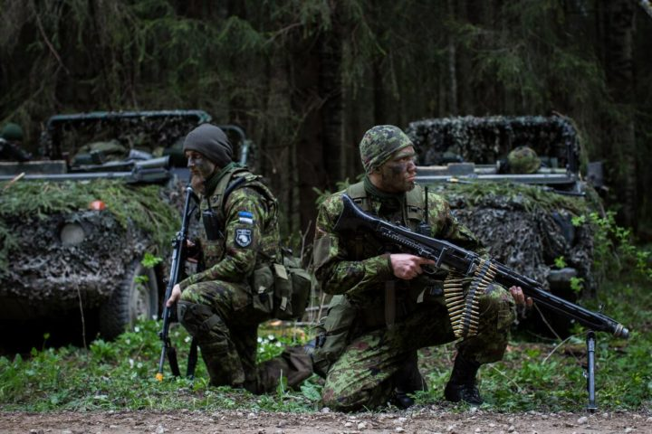 Estonia joined NATO in 2004 and borders Russia