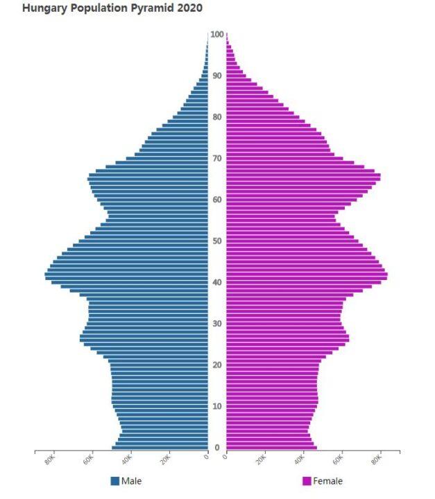 Hungary Population Pyramid 2020