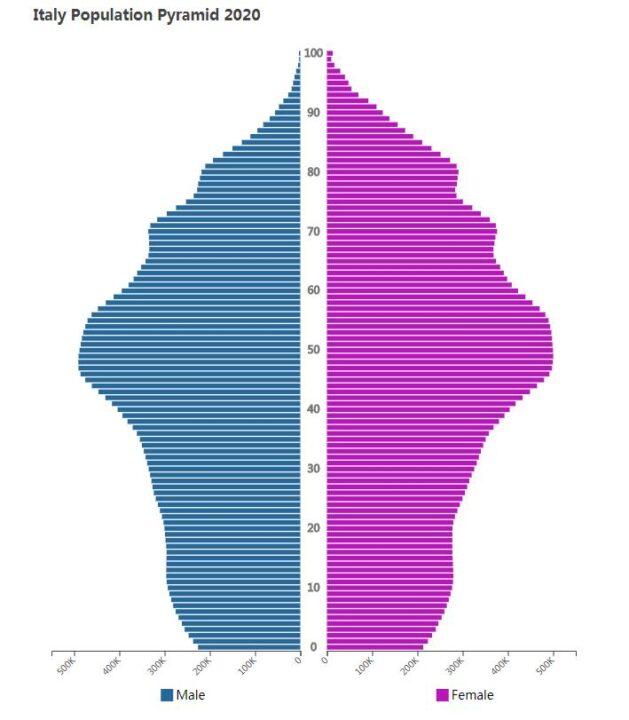 Italy Population Pyramid 2020