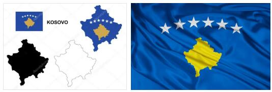 Kosovo Flag and Map 2
