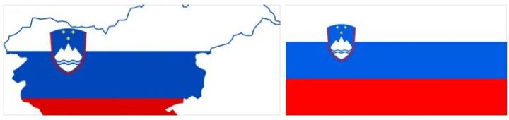 Slovenia Flag and Map