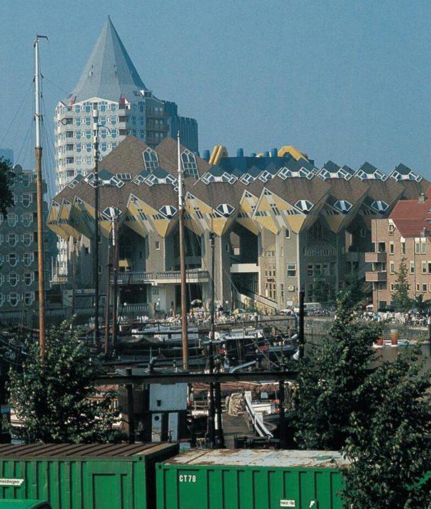 Original modern architecture in Rotterdam